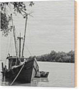 Fishing Bumboat Wood Print
