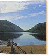Fishing Conkle Lake Wood Print
