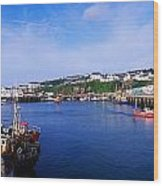 Fishing Harbour, Dunmore East, Ireland Wood Print