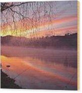 Fishing Lake Eildon Wood Print