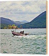 Fishing On Burton Wood Print
