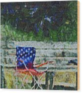 Fishing On Memorial Day Wood Print
