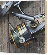Fishing Rod And Reel . 7d13565 Wood Print