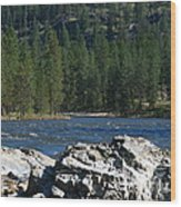 Fishing Spot Wood Print