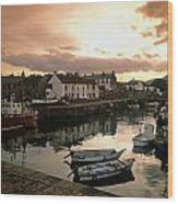Fishing Village In Ireland Wood Print