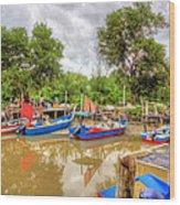 Fishing Village2 Wood Print