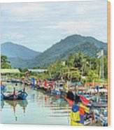Fishing Village3 Wood Print