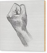 Fist Wood Print by Pamela  Corwin
