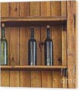 Five Bottles Wood Print by Carlos Caetano