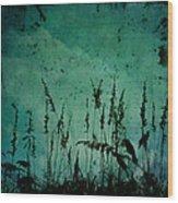 Five Crows Wood Print
