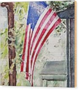 Flag Day Wood Print by Regina Ammerman