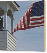 Flag Flies Wood Print
