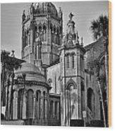 Flagler Memorial Presbyterian Church 3 - Bw Wood Print