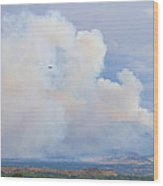 Flagstaff Fire Day One 6pm Wood Print