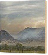 Flagstaff Fire Wood Print