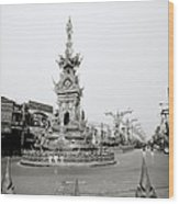 Flamboyant Clock Tower Wood Print