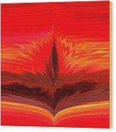 Flame 3 Wood Print