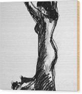 Flamenco Sketch 3 Wood Print