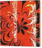Flaming Flower Wood Print