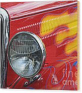 Flaming Hot Rod 2 Wood Print