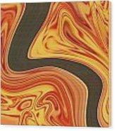 Flaming River Wood Print