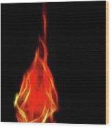 Flaming Tear Wood Print