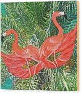Flamingo Mask 4 Wood Print