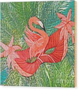 Flamingo Mask 8 Wood Print