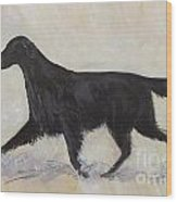 Flatcoat Retriever Wood Print