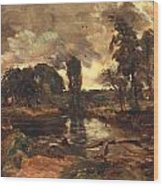 Flatford Mill From The Lock Wood Print