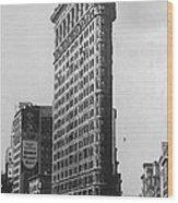 Flatiron Building Bw50 Wood Print
