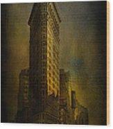 Flatiron Building...my View..revised Wood Print