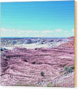 Flatlands In The Arizona Painted Desert Wood Print