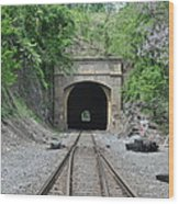 Flatrock Tunnel Wood Print