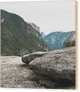 Flattop Rock Yosemite Wood Print