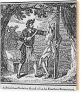 Flaying Of Christian Wood Print