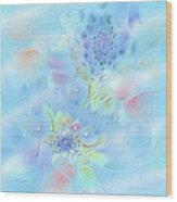 Fleur De Fantasm Wood Print