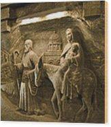 Flight Into Egypt - Wieliczka Salt Mine Wood Print