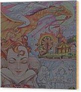 Flight Of Fancy Wood Print by Jackie Rock