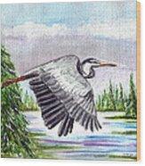 Flight Of Fantasy Wood Print