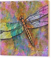 Flight Of The Dragonfly Wood Print