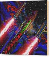 Flight Of The Firey Dragon Wood Print