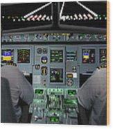 Flight Simulator Wood Print