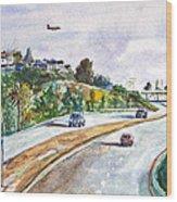 Flight To Bakersfield Wood Print