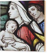 Flight To Egypt Stained Glass Wood Print