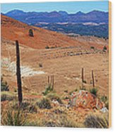Flinders Ranges Hucks Lookout Wood Print