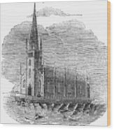 Floating Church, 1849 Wood Print
