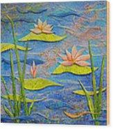 Floating Lilies Wood Print