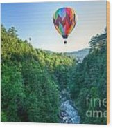 Floating Over Quechee Gorge Wood Print