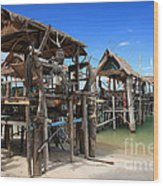 Floating Restaurants. Wood Print